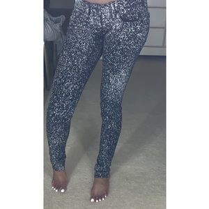 Speckled jeans